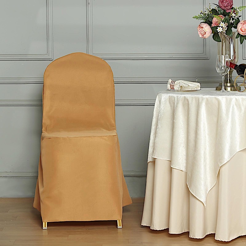Details About Polyester Banquet Chair Covers Wedding Reception Party Decorations Supply Sale