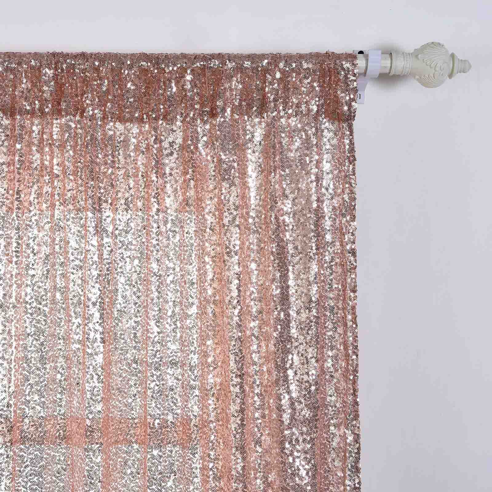 Sequined 52 X 84 Inch Window Drapes Curtains 2 Panels Home Decor