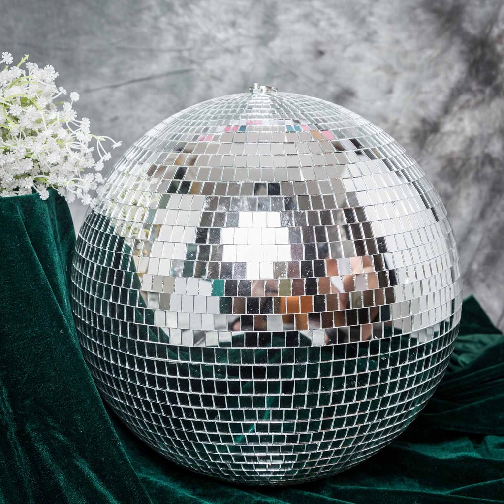 Incredible Details About 16 Wide Large Silver Glass Hanging Party Disco Mirror Ball Party Decorations Beutiful Home Inspiration Xortanetmahrainfo