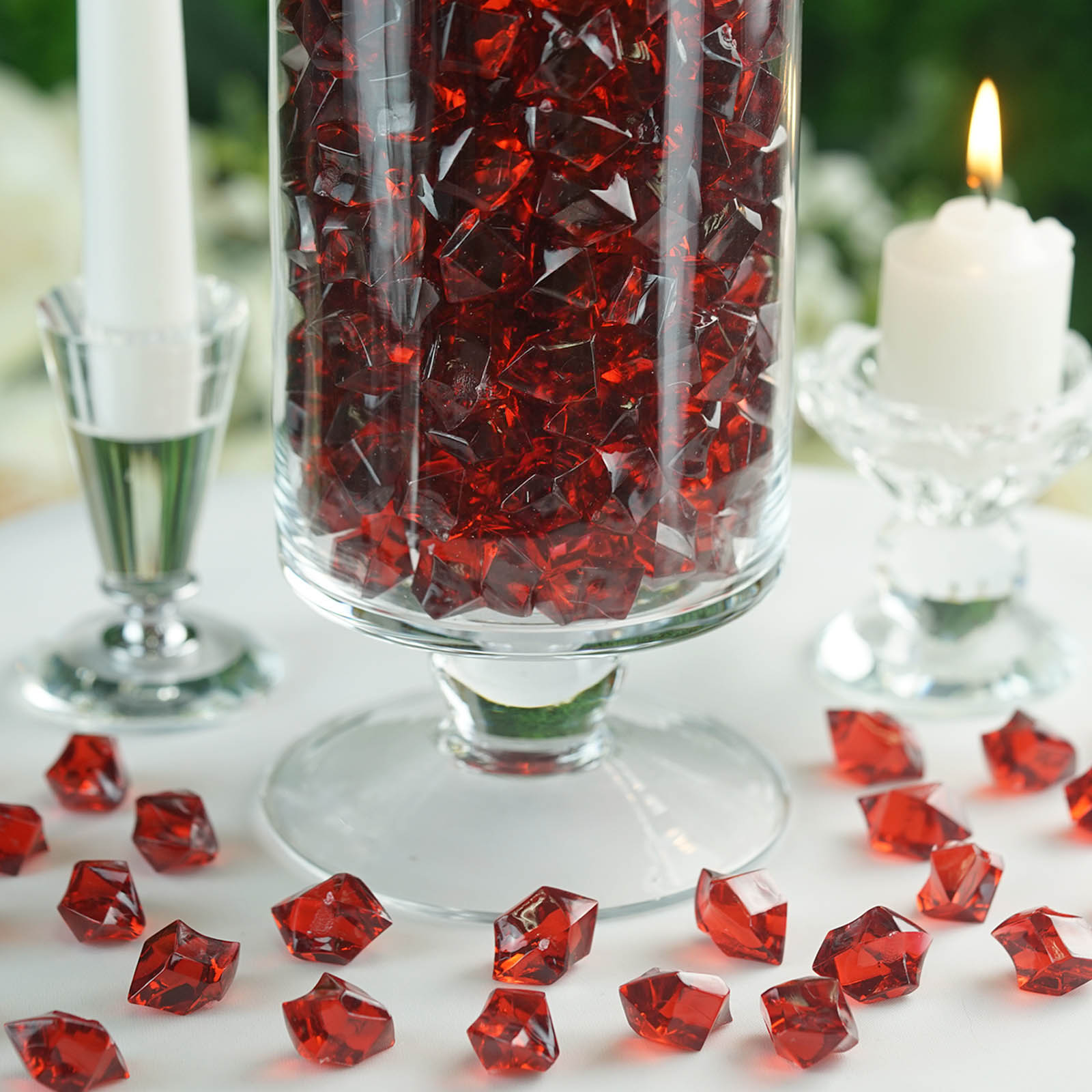300-Acrylic-Ice-CRYSTAL-LIKE-Pieces-Wedding-Centerpieces-Decorations-Supplies thumbnail 13