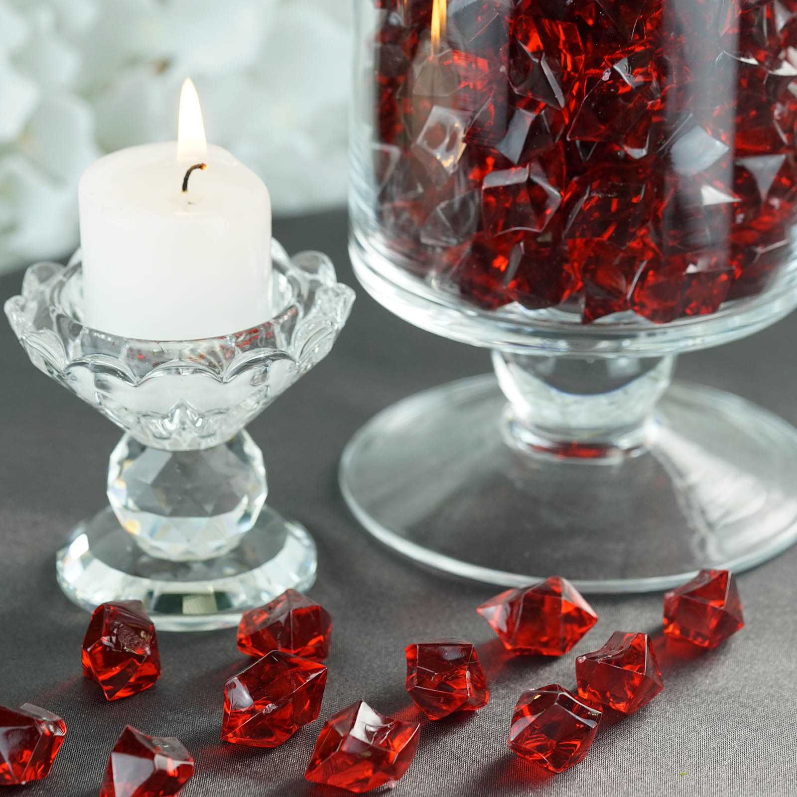 300-Acrylic-Ice-CRYSTAL-LIKE-Pieces-Wedding-Centerpieces-Decorations-Supplies thumbnail 12