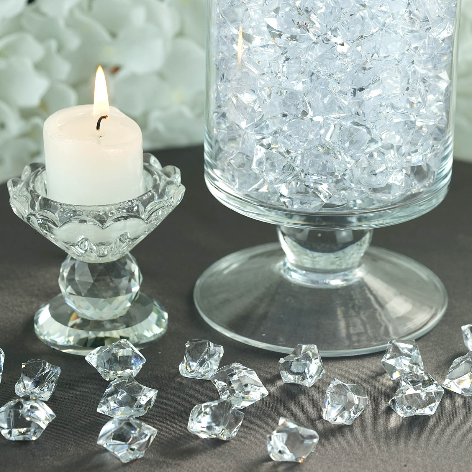 300-Acrylic-Ice-CRYSTAL-LIKE-Pieces-Wedding-Centerpieces-Decorations-Supplies thumbnail 19