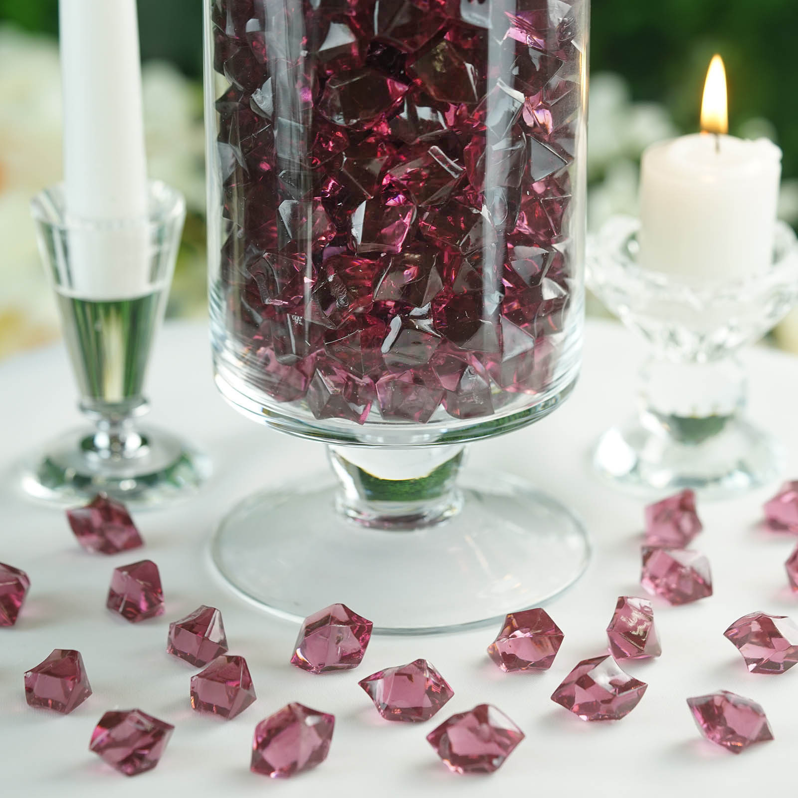 300-Acrylic-Ice-CRYSTAL-LIKE-Pieces-Wedding-Centerpieces-Decorations-Supplies thumbnail 27