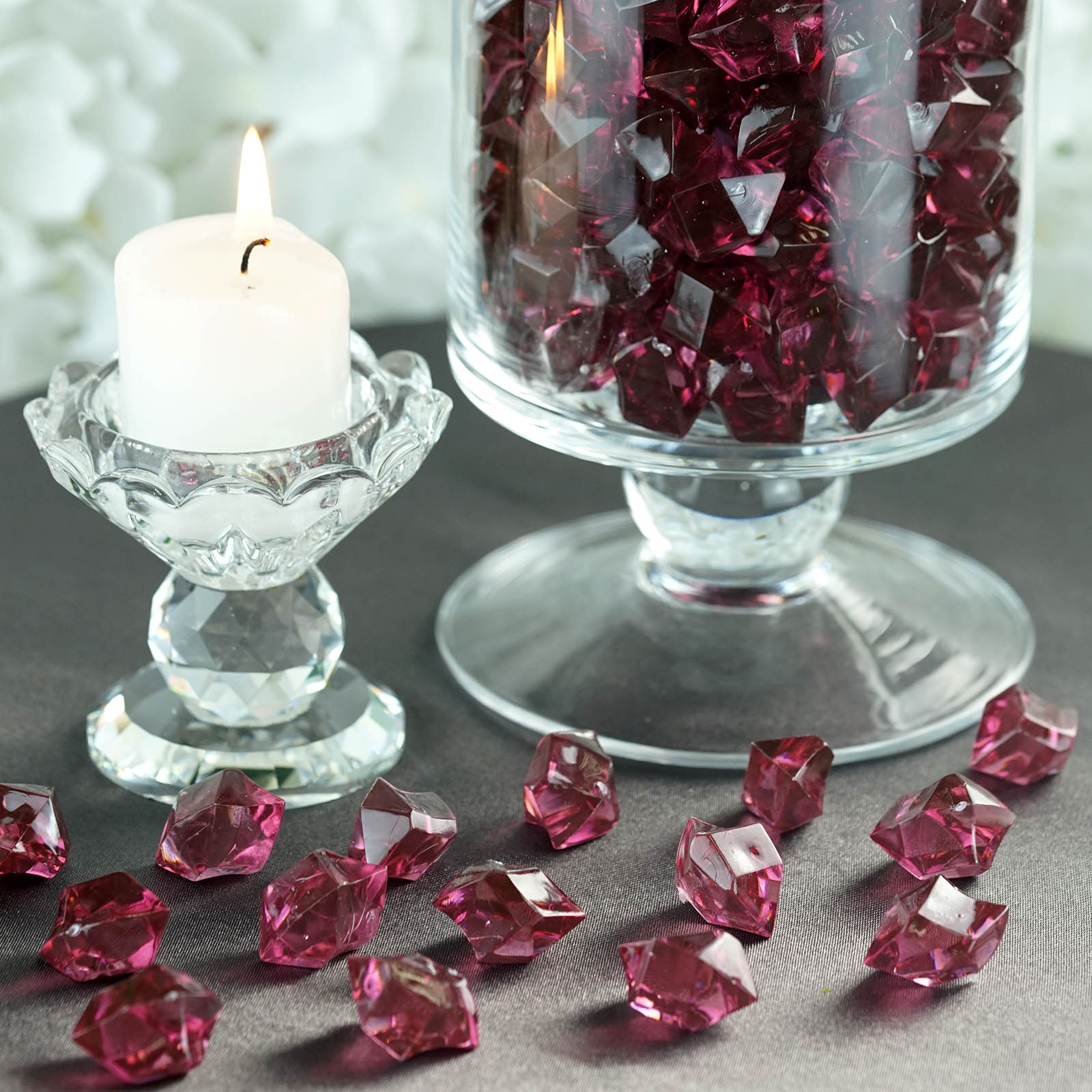 300-Acrylic-Ice-CRYSTAL-LIKE-Pieces-Wedding-Centerpieces-Decorations-Supplies thumbnail 26