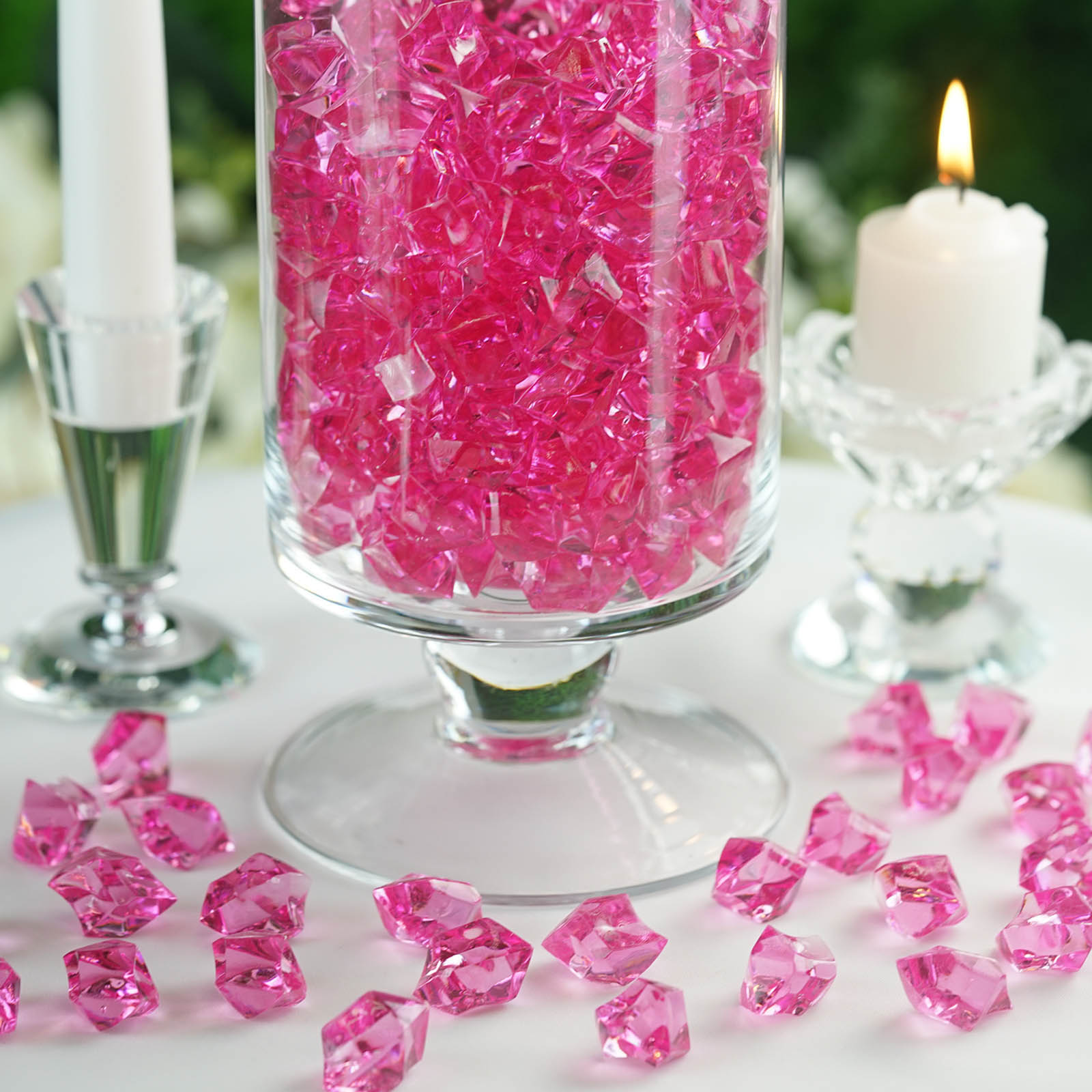 300-Acrylic-Ice-CRYSTAL-LIKE-Pieces-Wedding-Centerpieces-Decorations-Supplies thumbnail 30