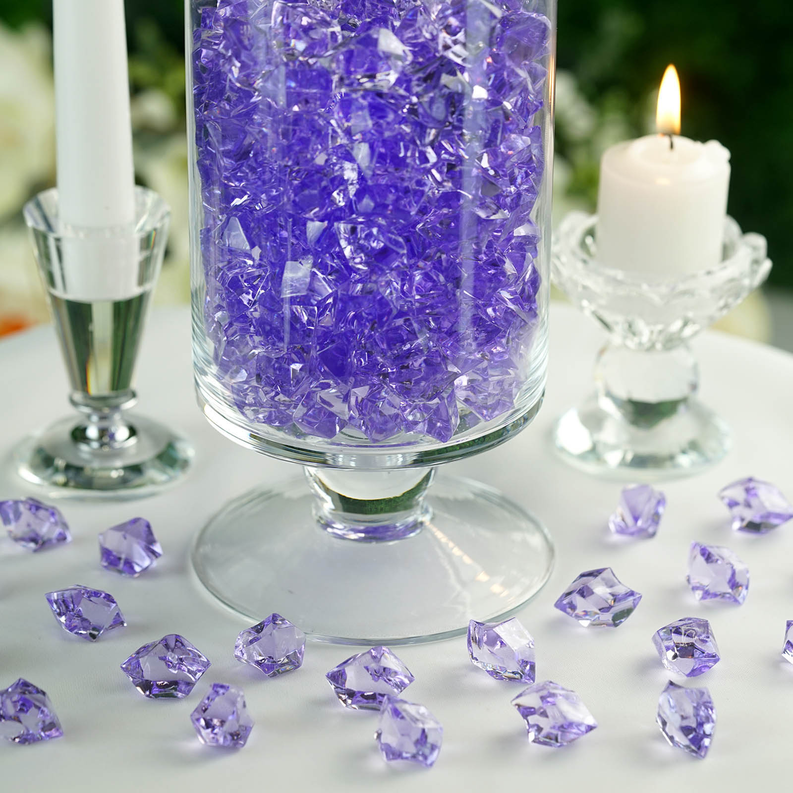 300-Acrylic-Ice-CRYSTAL-LIKE-Pieces-Wedding-Centerpieces-Decorations-Supplies thumbnail 39
