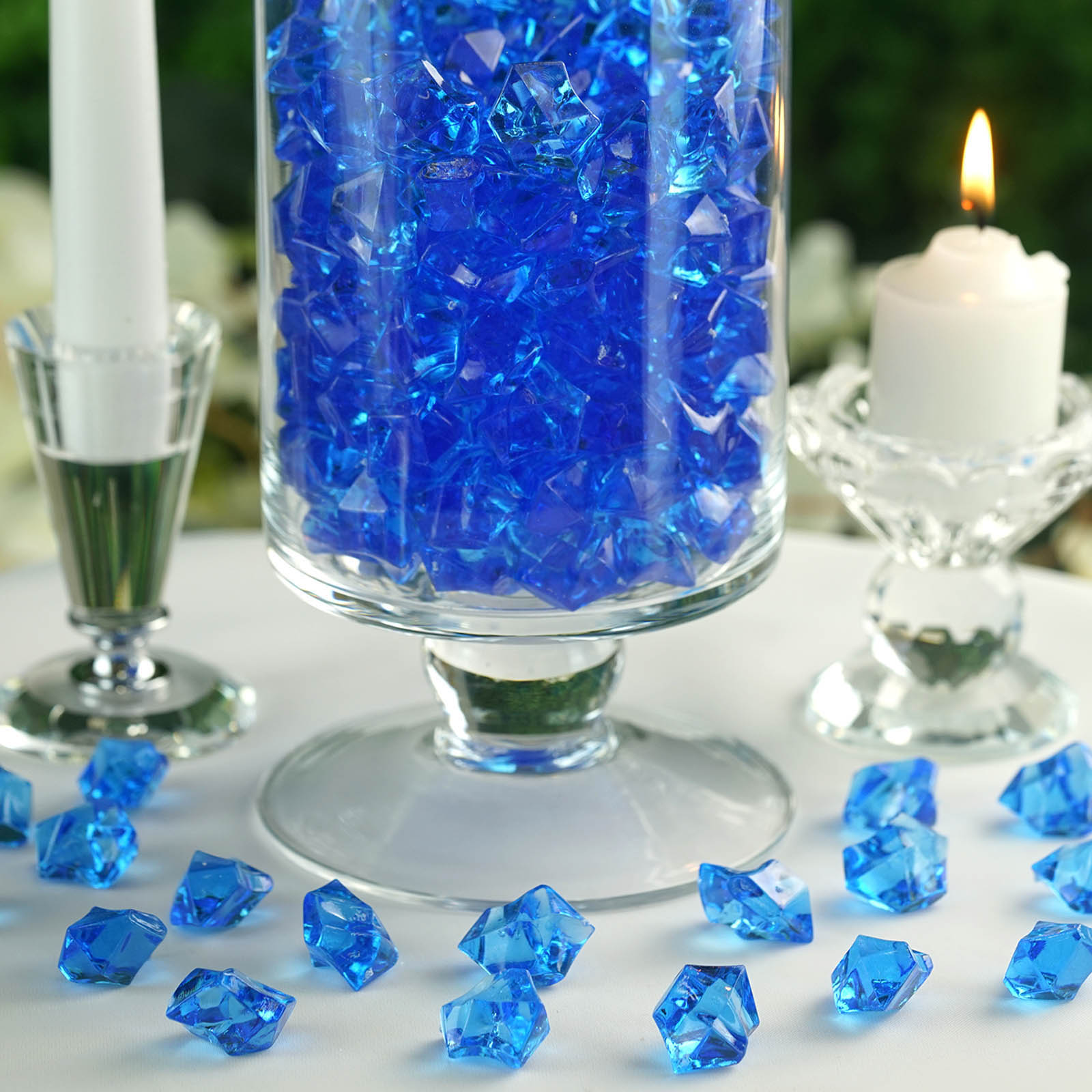 300-Acrylic-Ice-CRYSTAL-LIKE-Pieces-Wedding-Centerpieces-Decorations-Supplies thumbnail 59