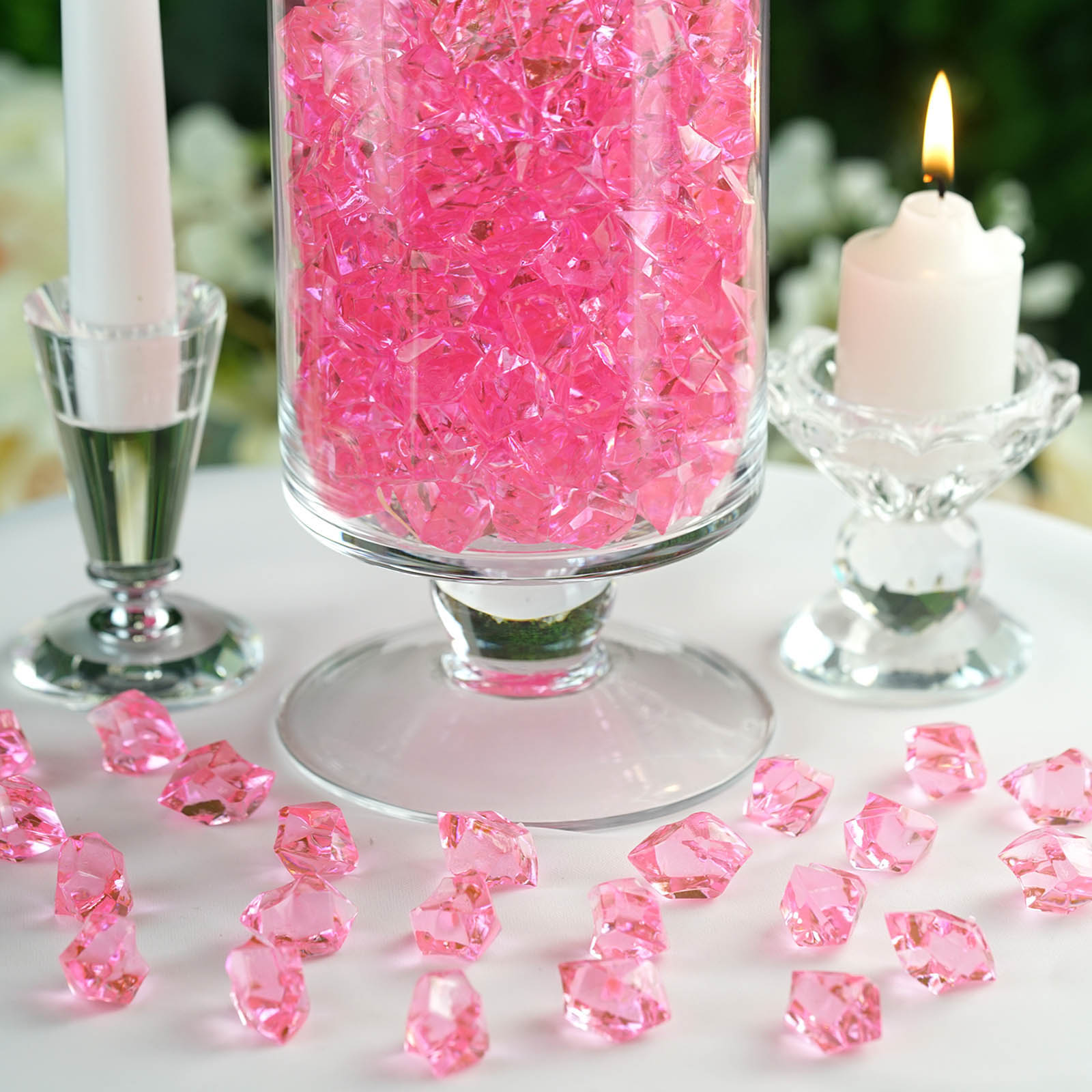 300-Acrylic-Ice-CRYSTAL-LIKE-Pieces-Wedding-Centerpieces-Decorations-Supplies thumbnail 46