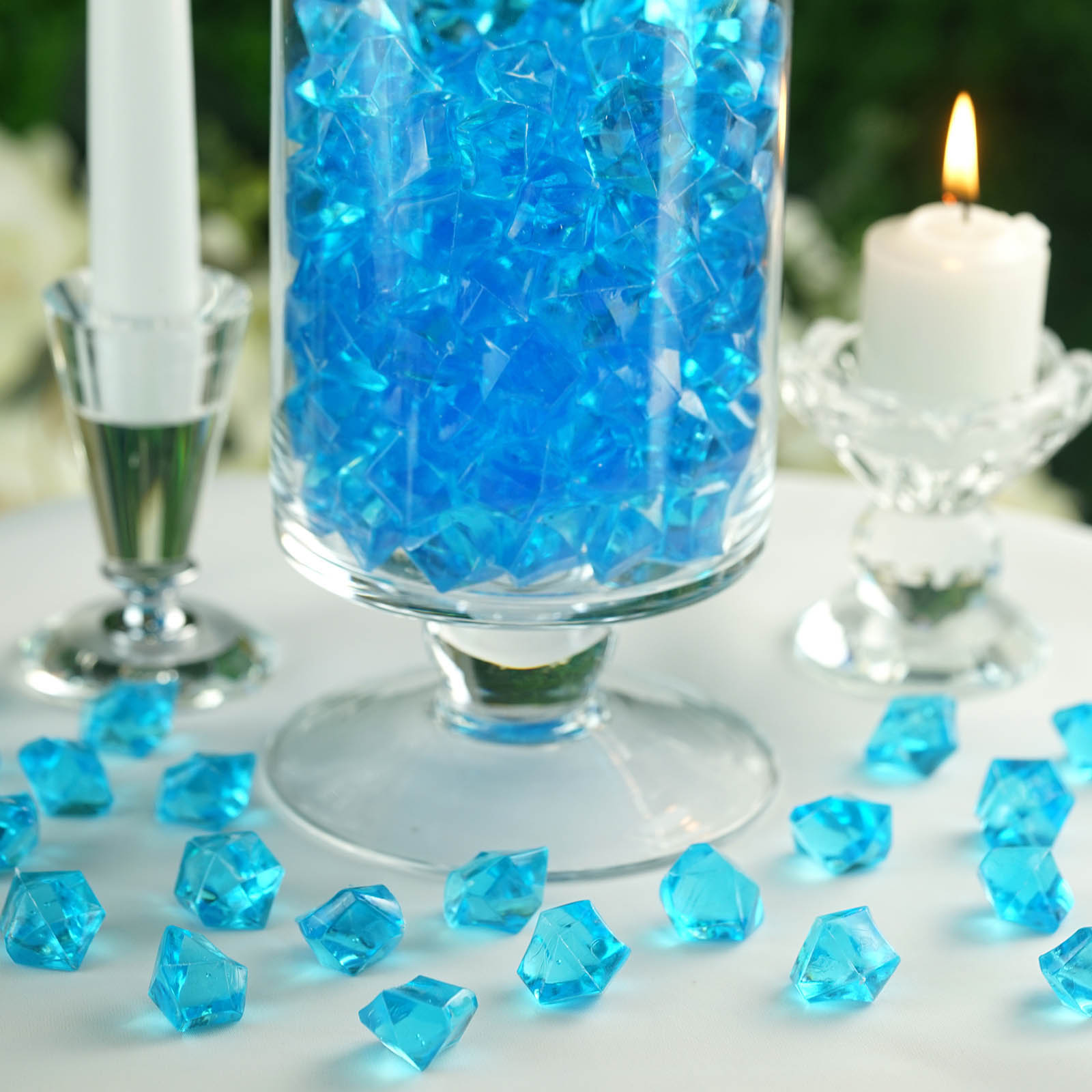 300-Acrylic-Ice-CRYSTAL-LIKE-Pieces-Wedding-Centerpieces-Decorations-Supplies thumbnail 63