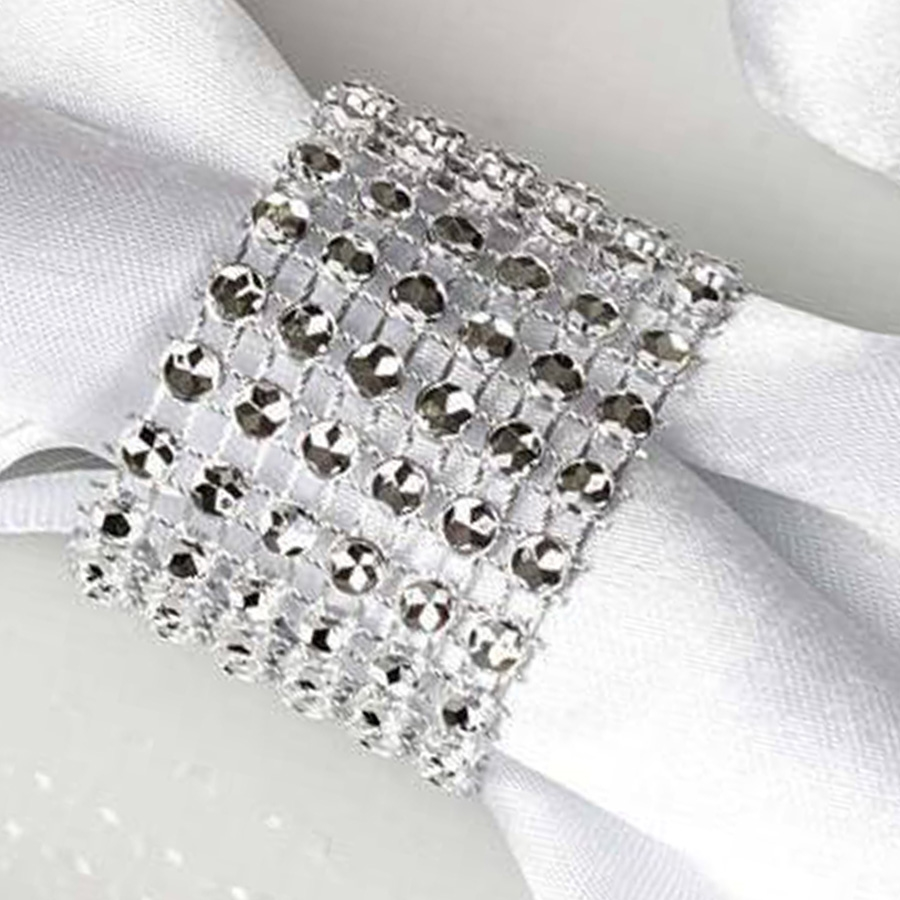 Napkins Rings Diamond Wedding Party Kitchen Catering Banquet Dinner