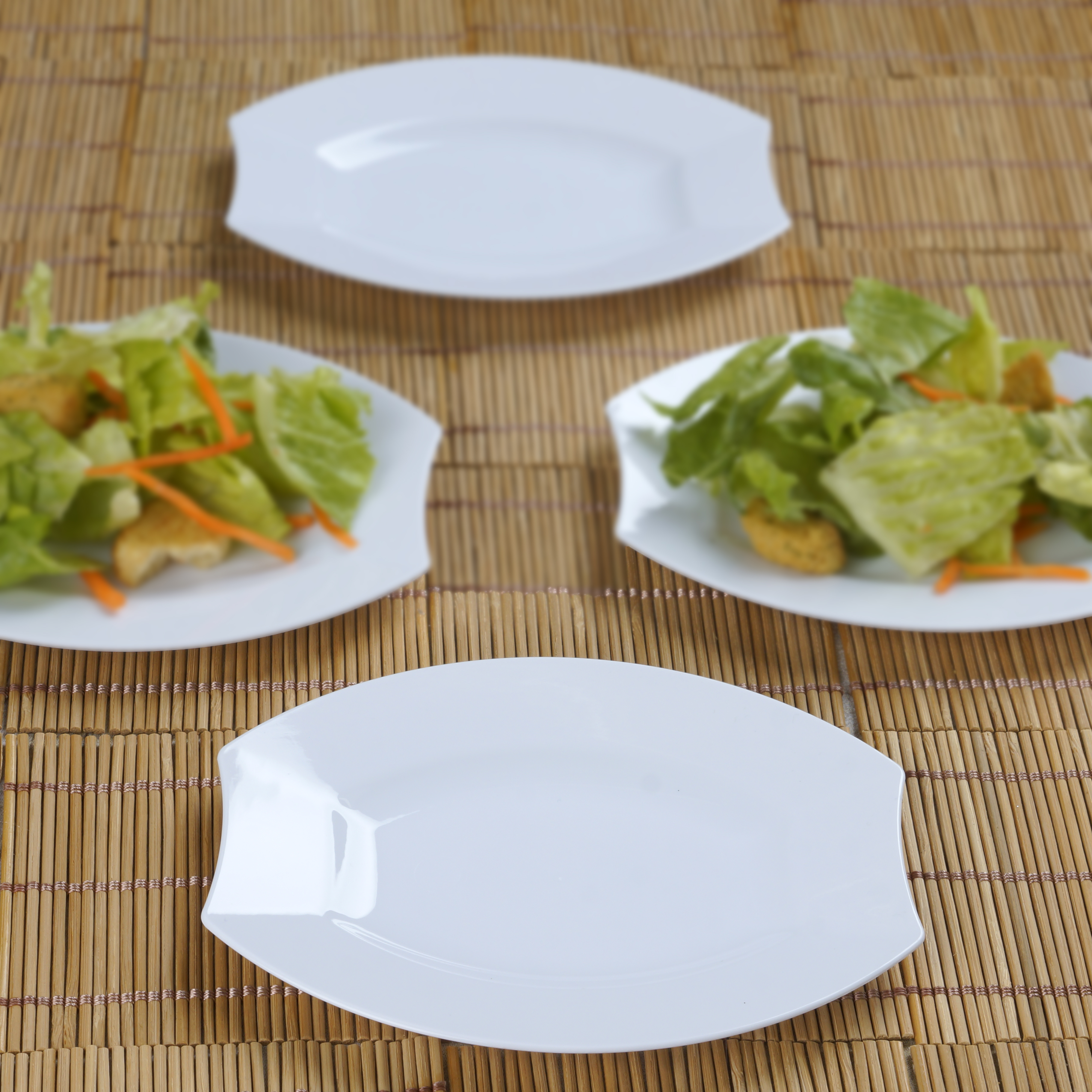 Hard-Plastic-6-034-DESSERT-Appetizer-PLATES-Wedding- & Hard Plastic 6