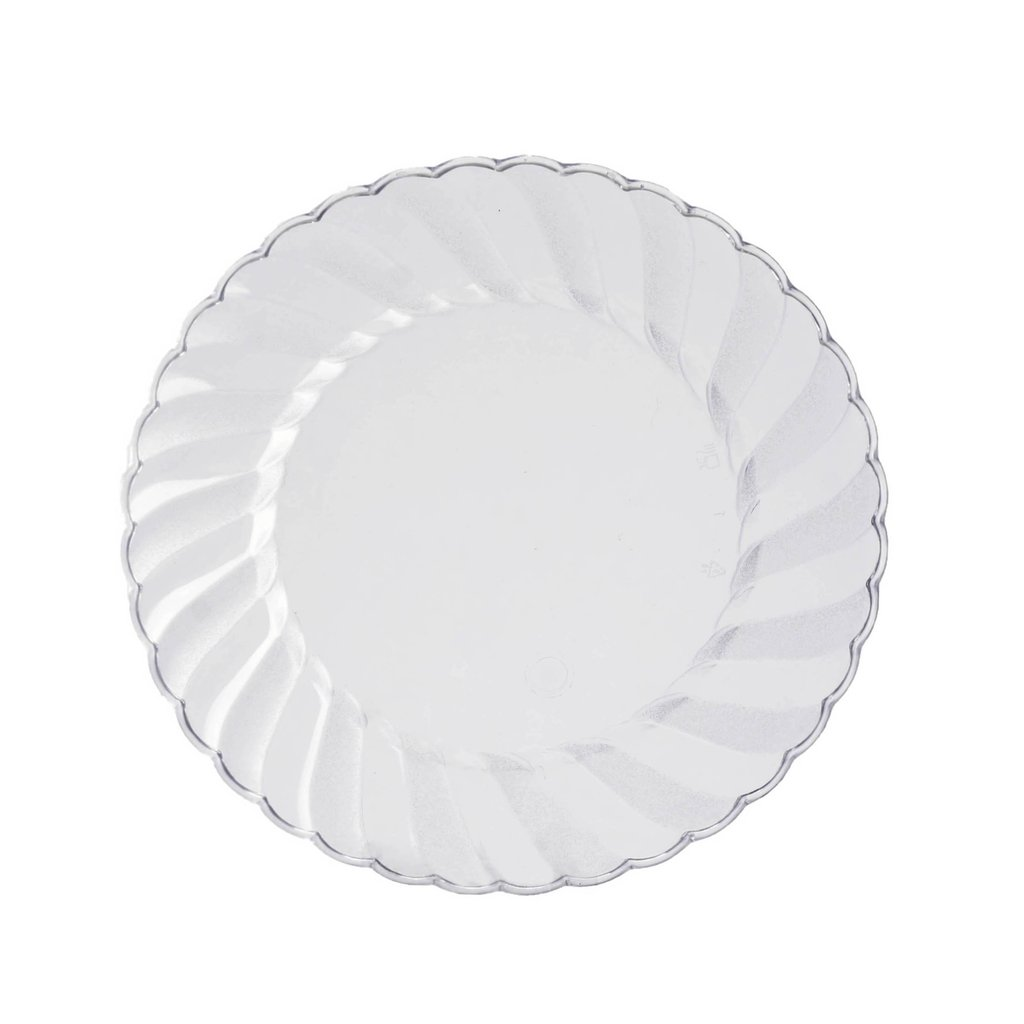 """Hard Plastic 6/"""" ROUND DESSERT PLATES Party Wedding Catering Disposable TABLEWARE"""