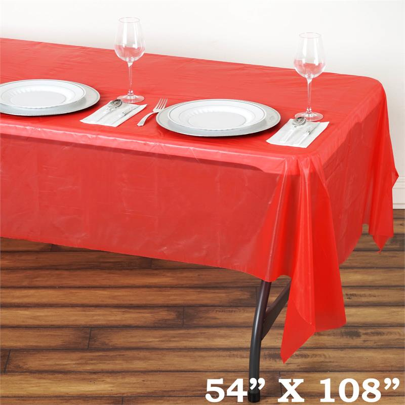 54x108 Inch Disposable Plastic Table Cover Wedding Party