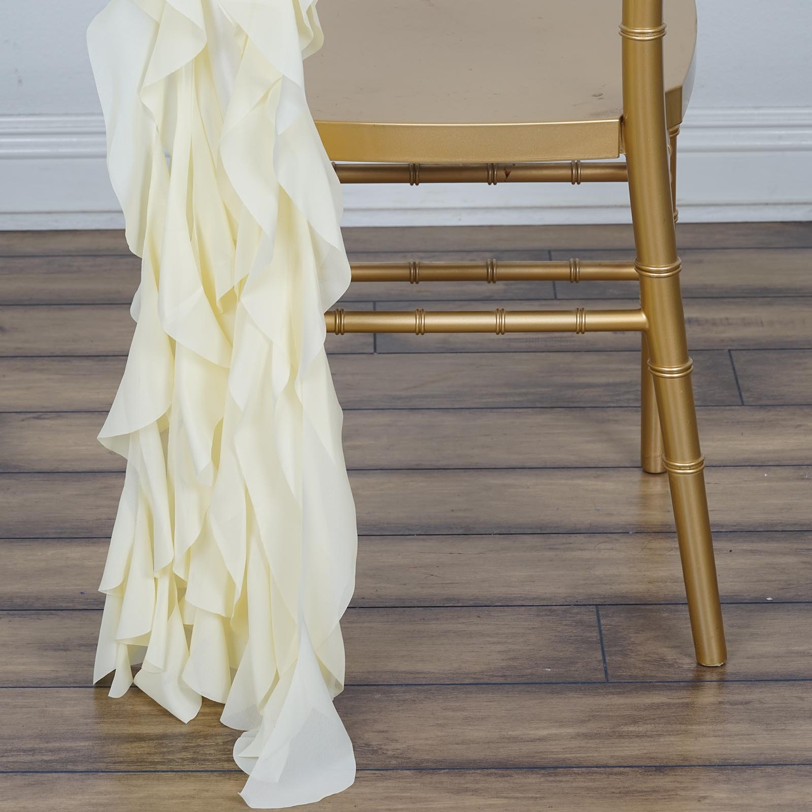 CHAIR SASHES Curly Chiffon Wedding Party Reception Home