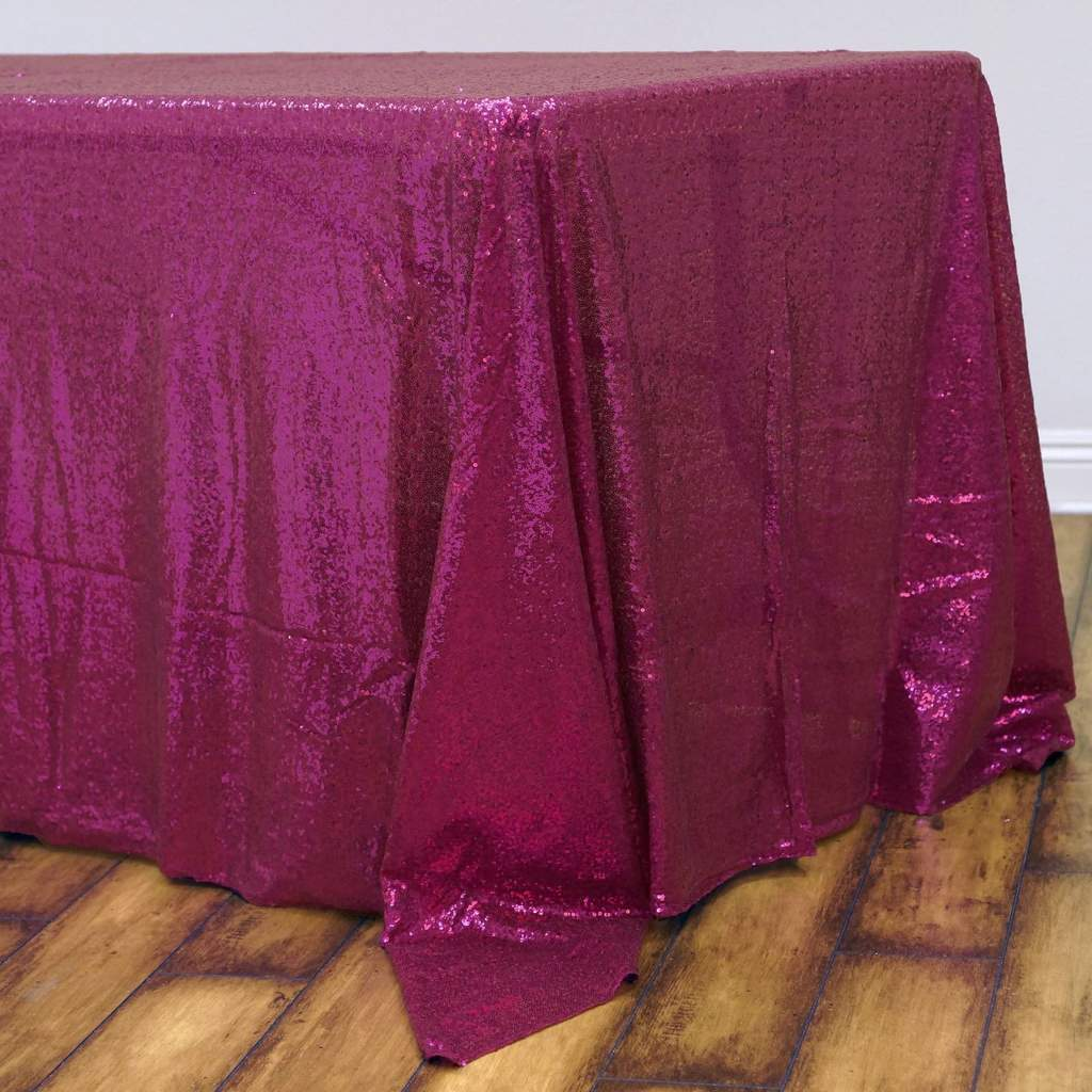 Sequin-RECTANGULAR-Tablecloth-Dinner-Wedding-Linens-Party-Decorations-Wholesale thumbnail 17