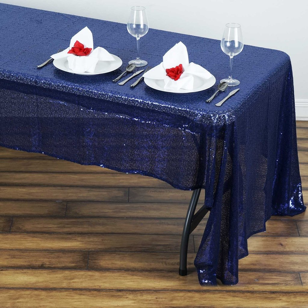 Sequin-RECTANGULAR-Tablecloth-Dinner-Wedding-Linens-Party-Decorations-Wholesale thumbnail 23