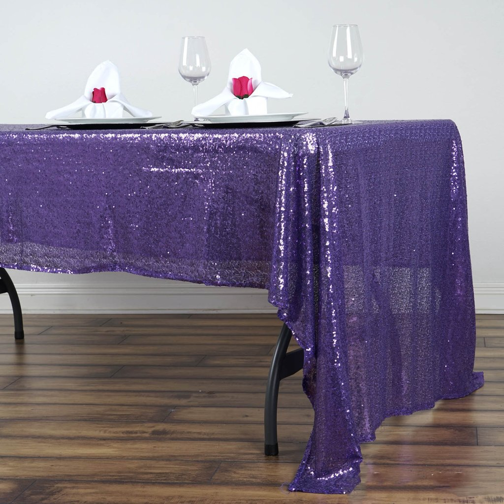 Sequin-RECTANGULAR-Tablecloth-Dinner-Wedding-Linens-Party-Decorations-Wholesale thumbnail 26