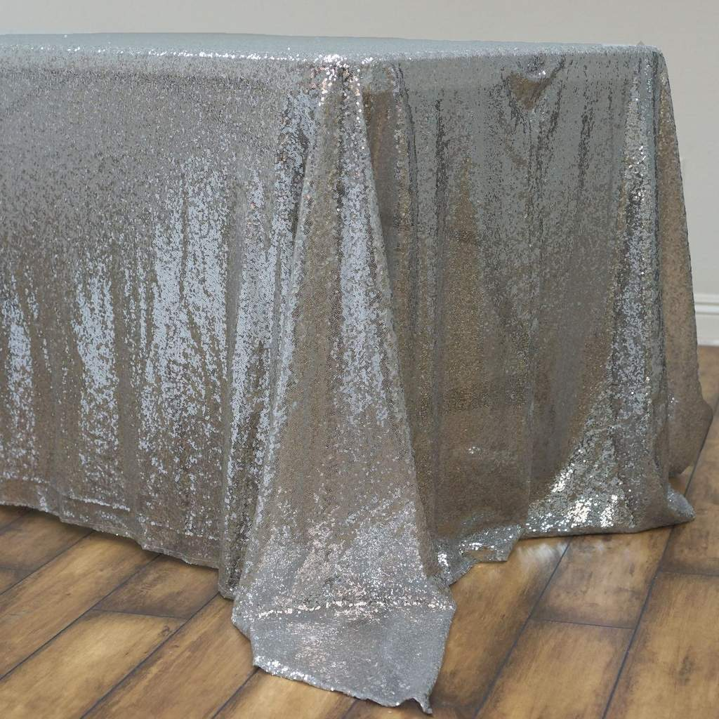 Sequin-RECTANGULAR-Tablecloth-Dinner-Wedding-Linens-Party-Decorations-Wholesale thumbnail 37