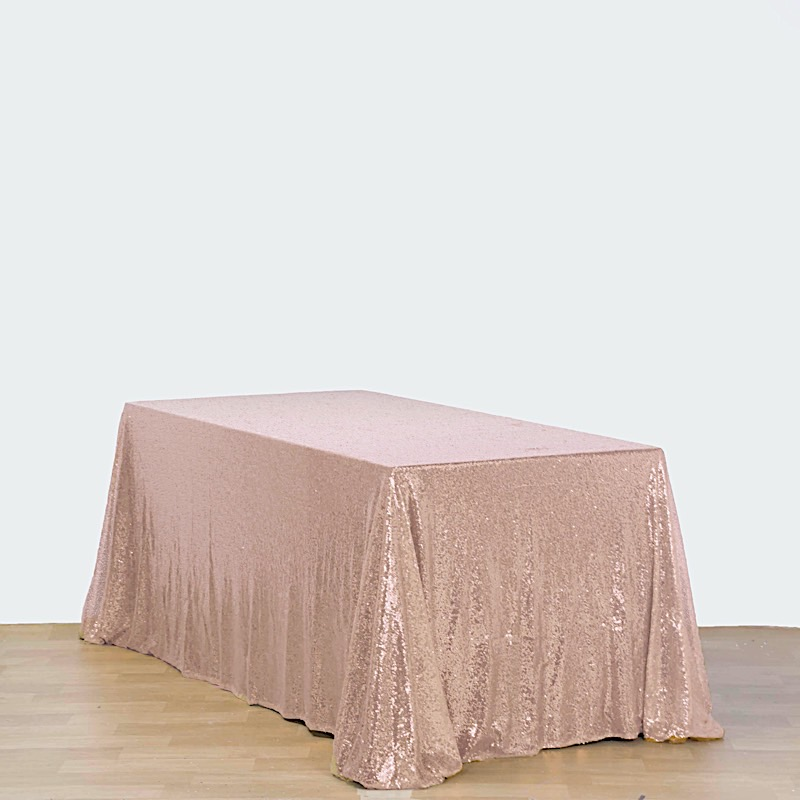 Sequin-RECTANGULAR-Tablecloth-Dinner-Wedding-Linens-Party-Decorations-Wholesale thumbnail 8