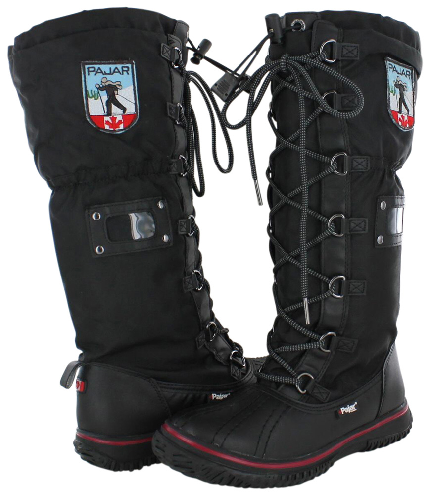 Pajar 9878 Womens Grip Black Waterproof Snow BOOTS Shoes 41 Tall ...