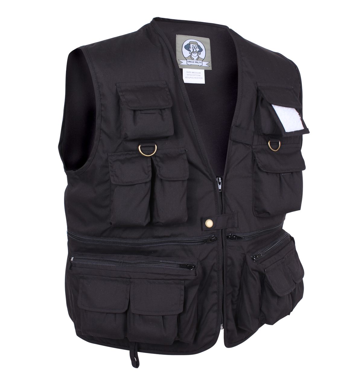 Uncle milty travel vest photographer vest with 17 pockets for Travel shirts with zipper pockets