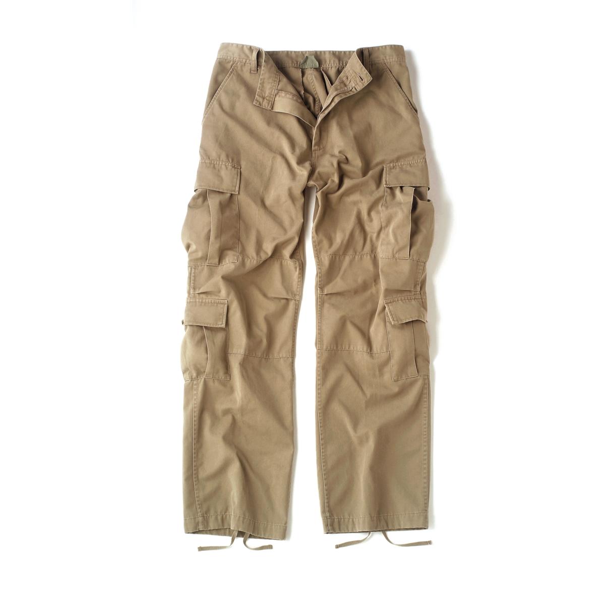 Men's Khaki Vintage Paratrooper Cargo Pants, New | eBay