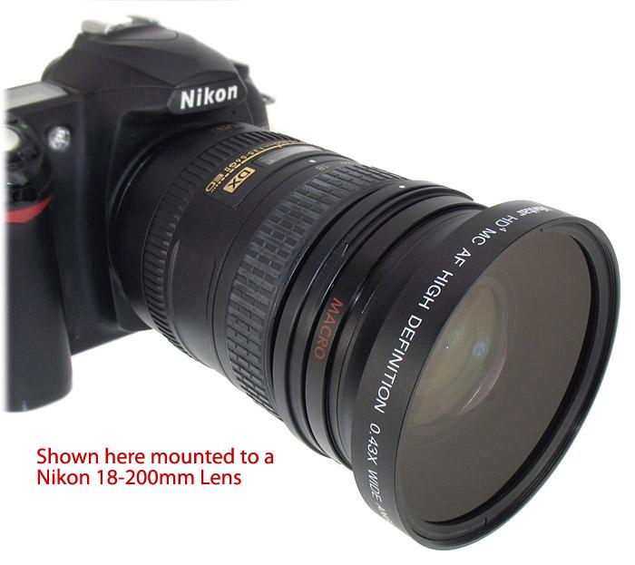 new 72mm wide angle macro lens for nikon 18 200mm 24 85mm. Black Bedroom Furniture Sets. Home Design Ideas
