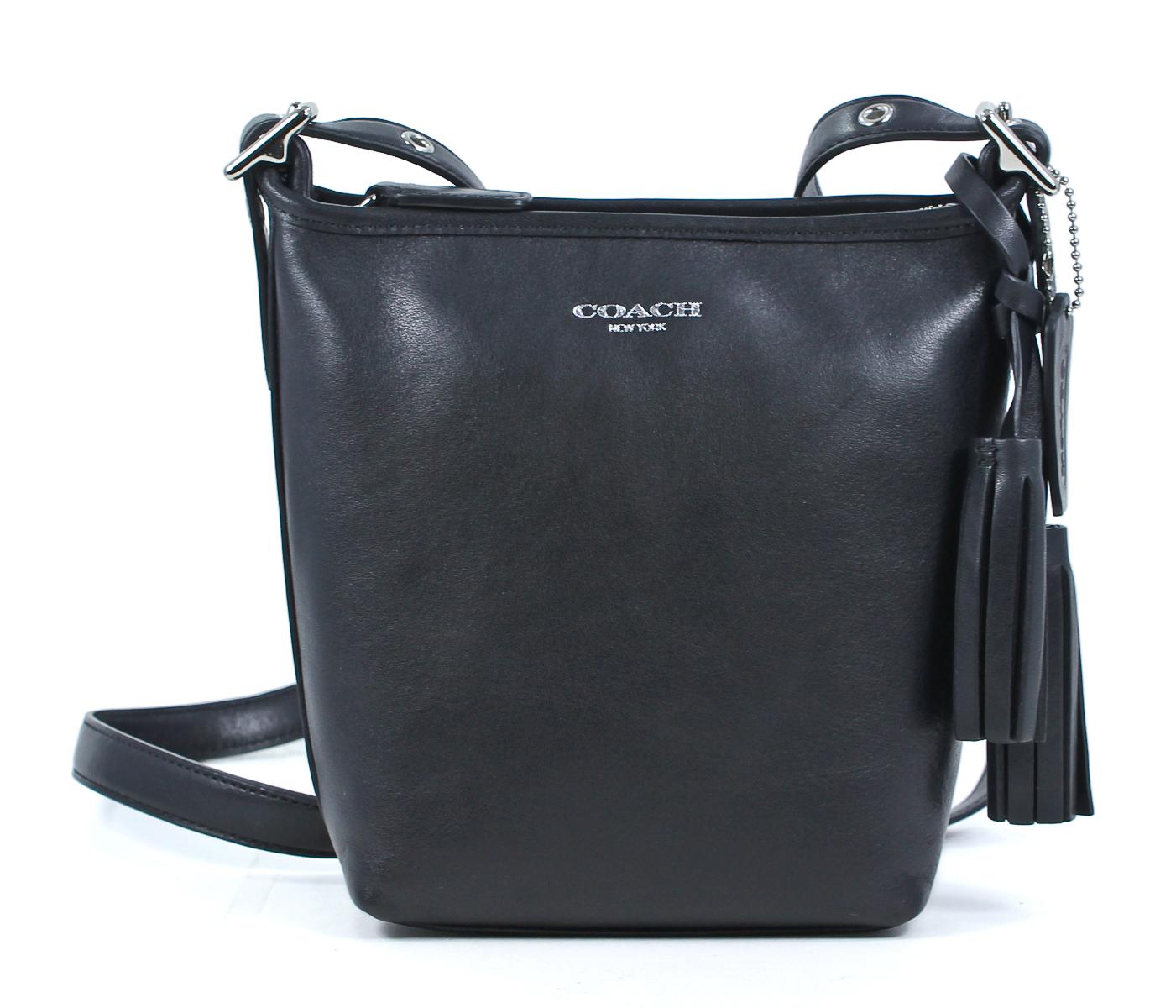 Coach Black Legacy Leather Mini Duffle Crossbody Shoulder ...