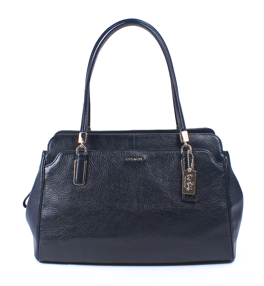 Coach Madison Leather Kimberly Carryall Black Shoulder Bag ...