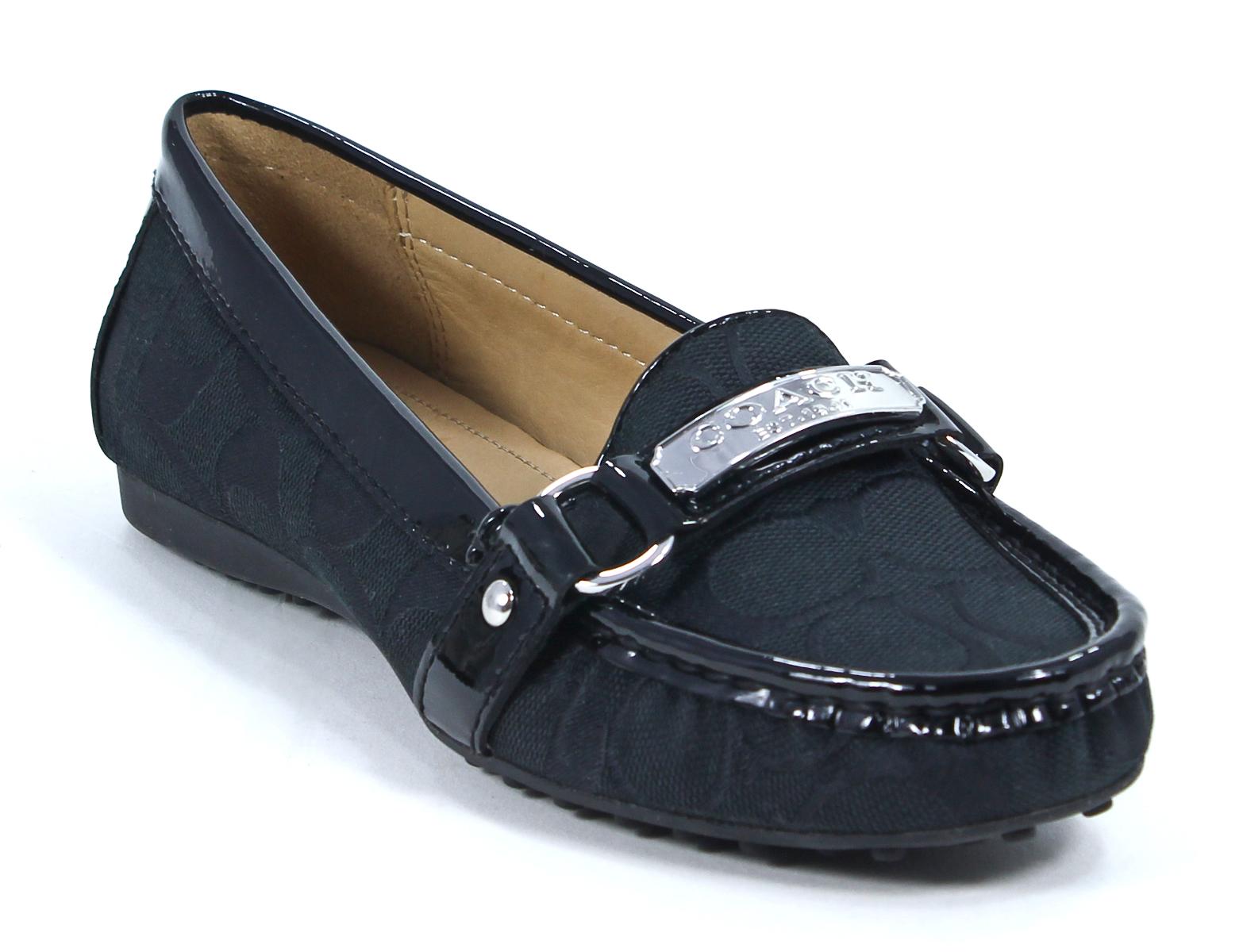 Coach Signature Felisha Black Loafers Slip On Shoes 11 New ...