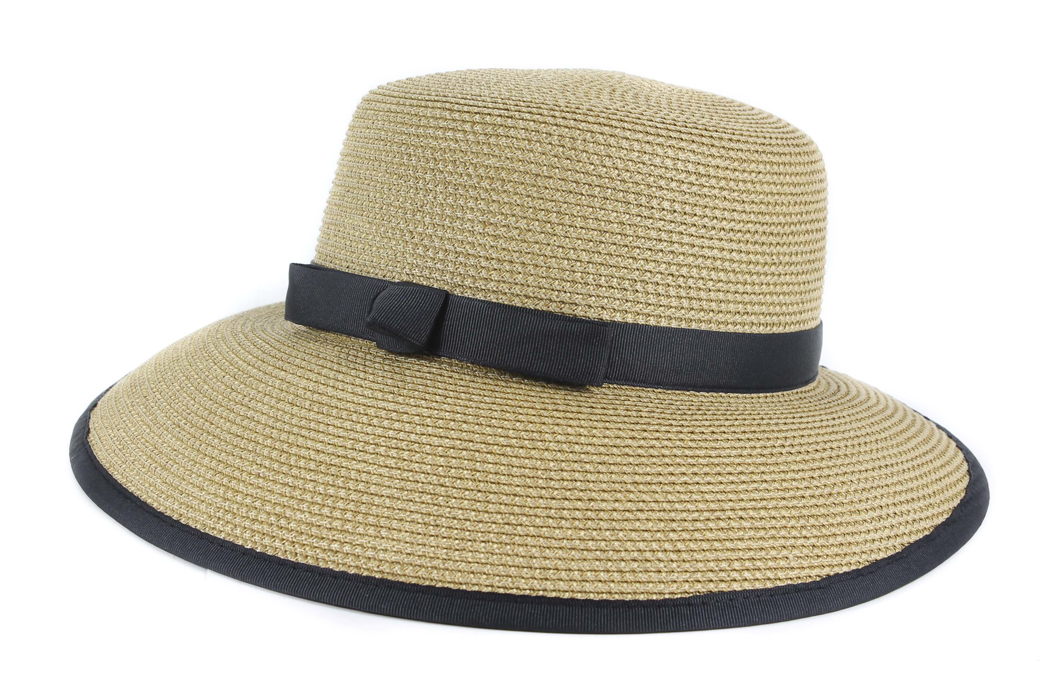 cb55daa756c Eric Javits Squishee Cap Natural Black Woven Hat New