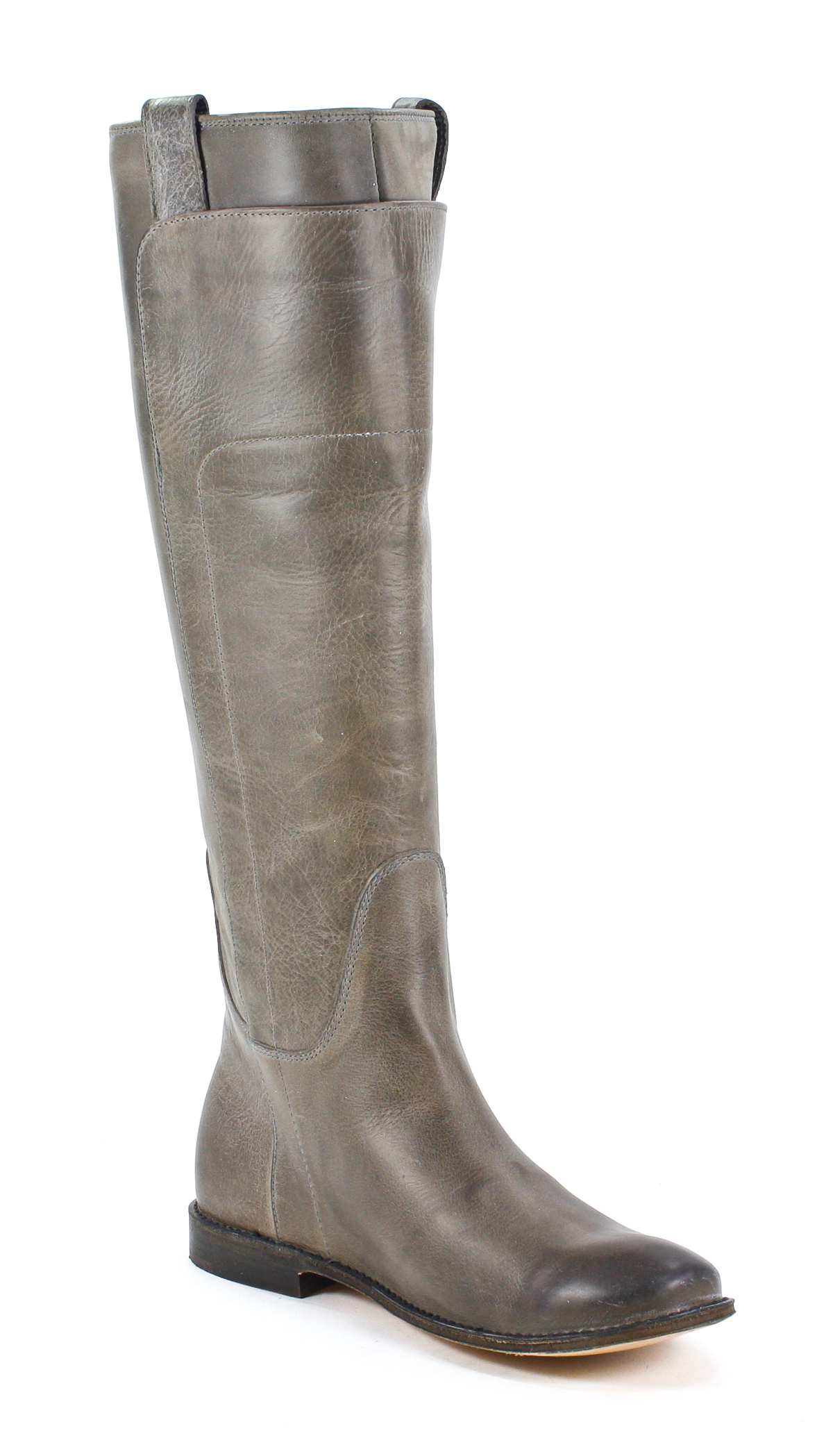 Frye Womens Paige Tall Riding Leather Grey Fashion Boot 9 ...