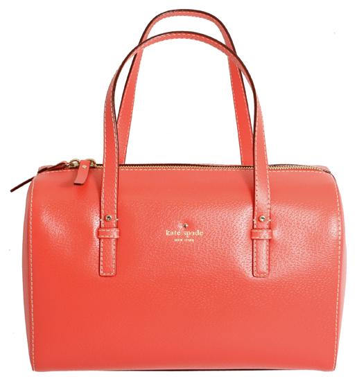Kate Spade Melinda Grand Street Leather Satchel Handbag Coral New