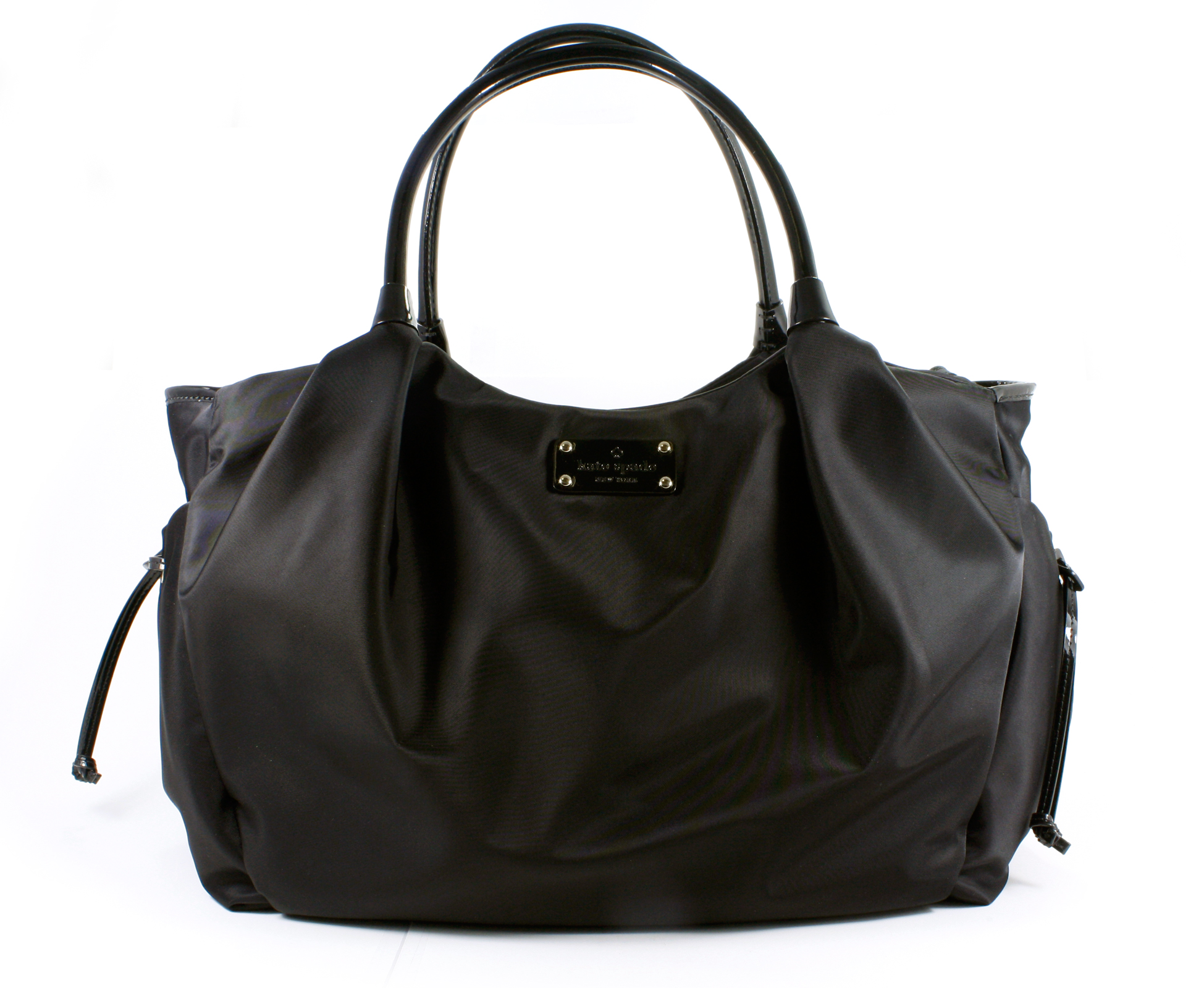 Kate Spade Stevie Baby Bag Basic Nylon Black Diaper Tote Purse New