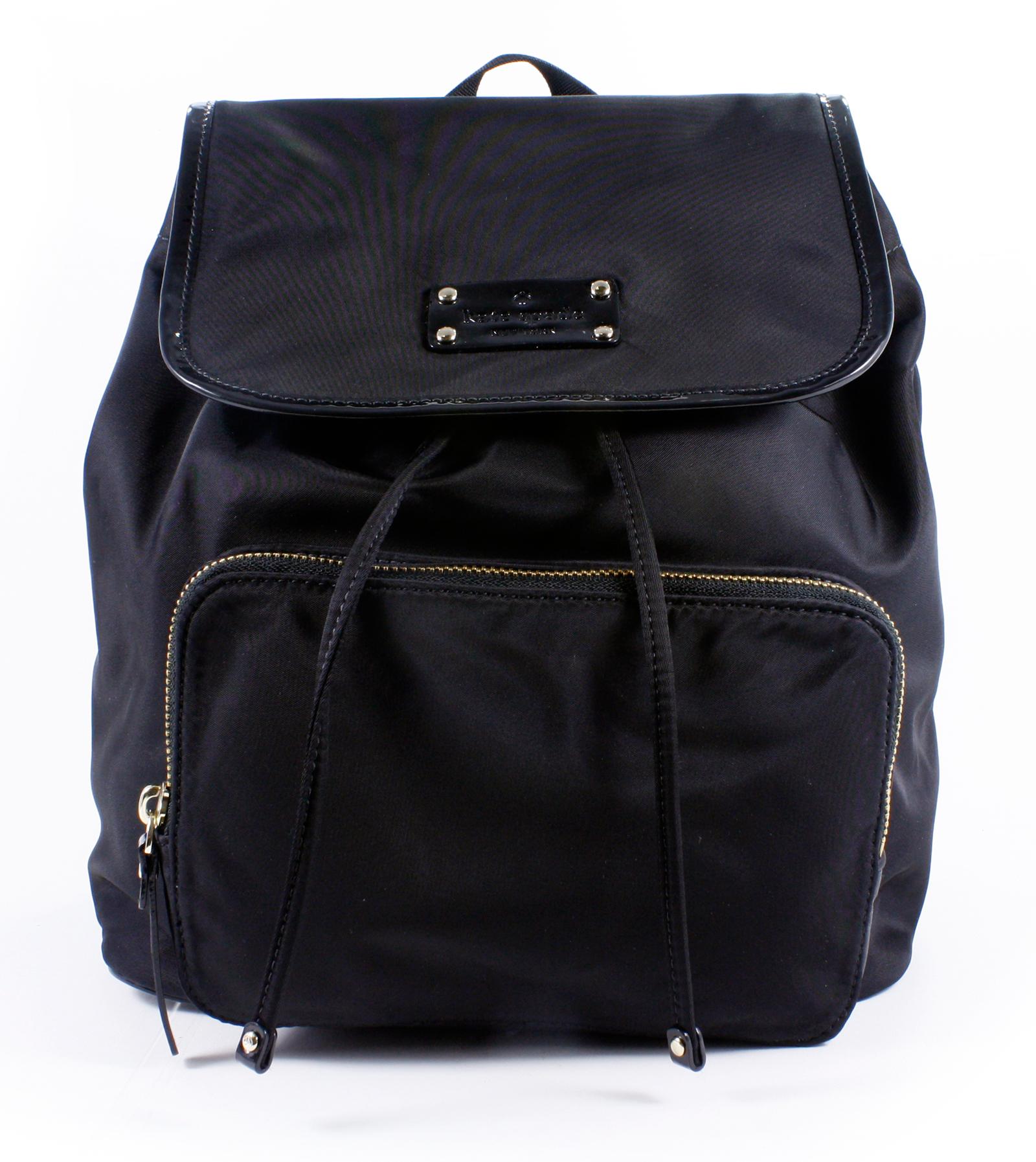 Kate Spade Regan Basic Nylon Black Backpack Handbag Purse ...