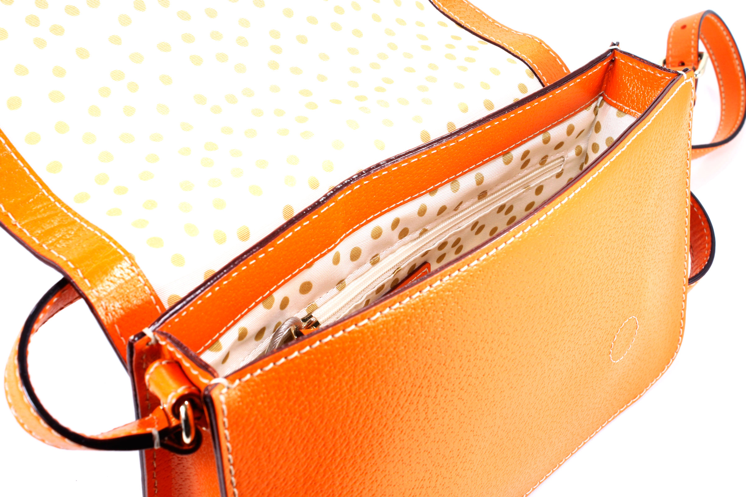 Kate Spade Fynn Wellesley Orange Sherbet Leather Crossbody Handbag