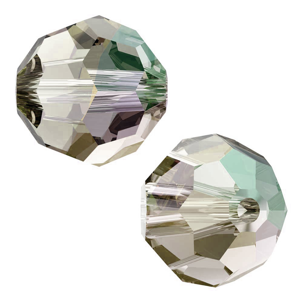 Swarovski Crystal, #5000 Round Beads 6mm, 10 Pieces, Crystal Shimmer