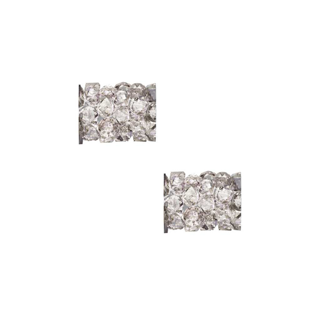 Swarovski Crystal, #5951 Fine Rocks Tube Bead  8mm, 2 Pieces, Crystal Moonlight