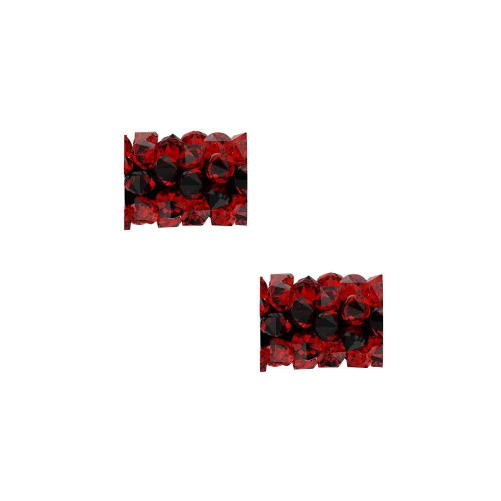 Swarovski Crystal, #5951 Fine Rocks Tube Bead  8mm, 2 Pieces, Light Siam