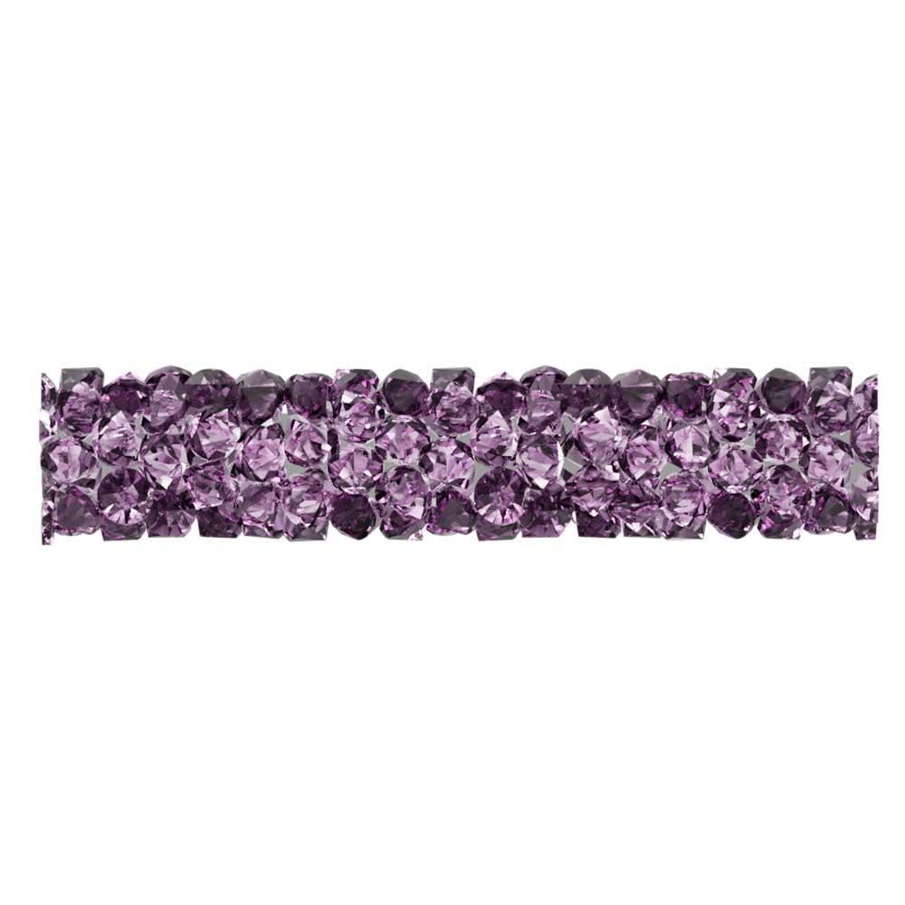 Swarovski Crystal, #5951 Fine Rocks Tube Bead  30mm, 1 Piece, Amethyst