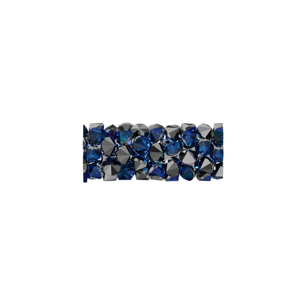 Swarovski Crystal, #5951 Fine Rocks Tube Bead  15mm, 1 Piece, Crystal Bermuda Blue