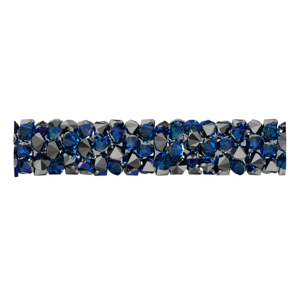 Swarovski Crystal, #5951 Fine Rocks Tube Bead  30mm, 1 Piece, Crystal Bermuda Blue