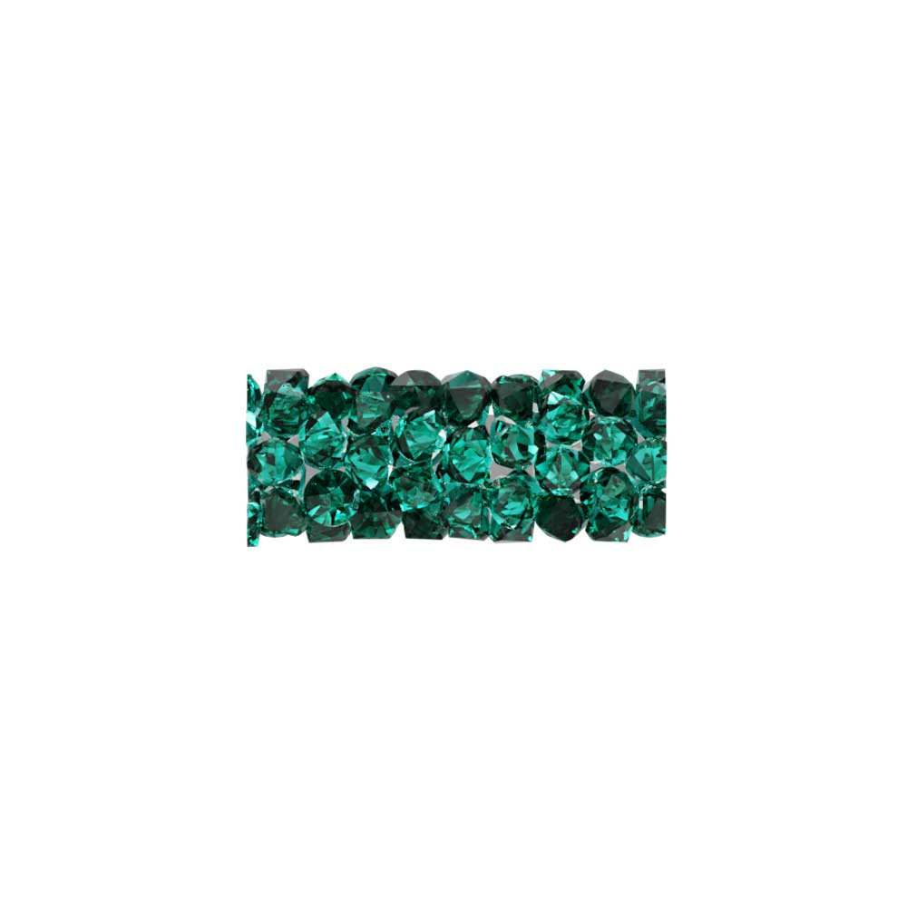 Swarovski Crystal, #5951 Fine Rocks Tube Bead  15mm, 1 Piece, Emerald