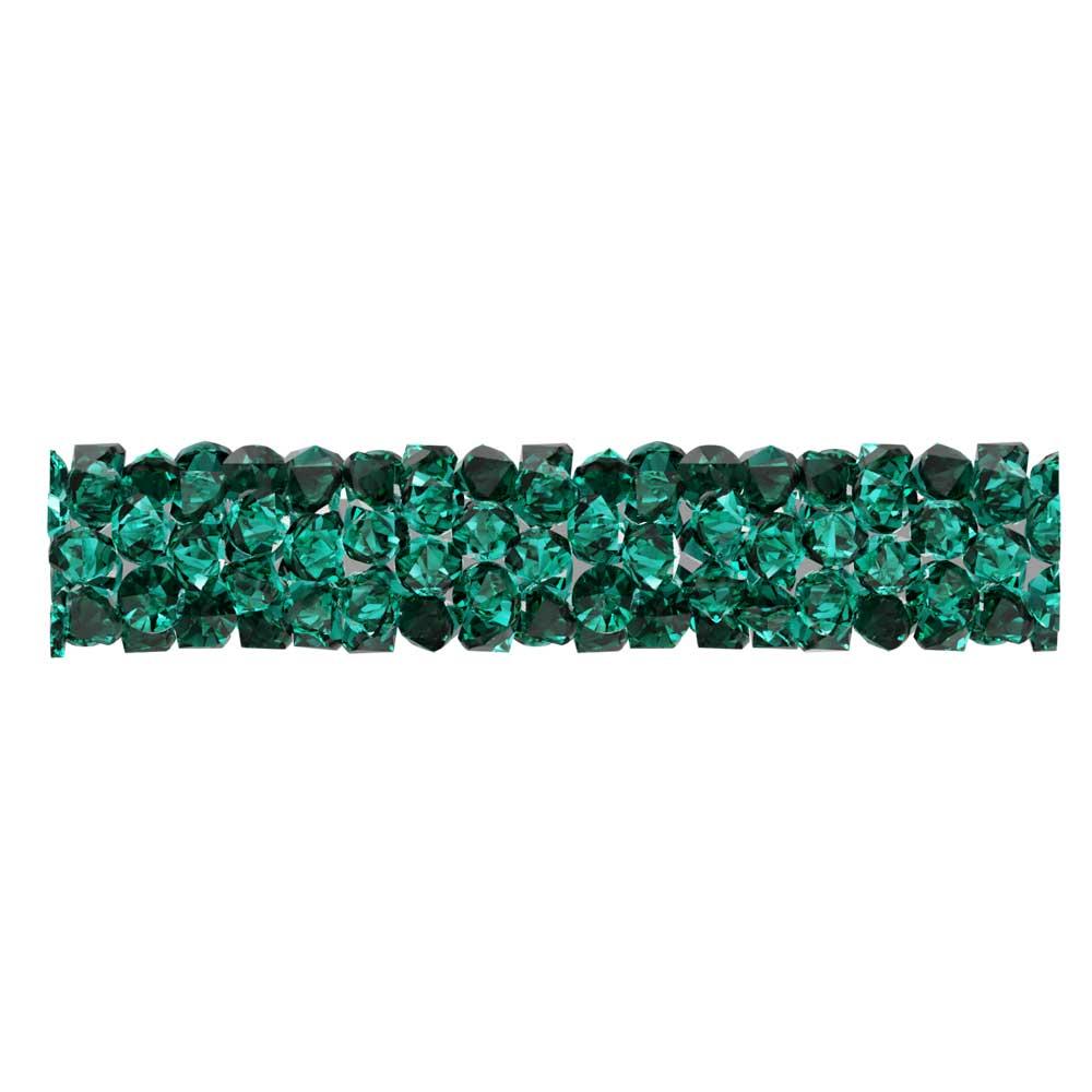 Swarovski Crystal, #5951 Fine Rocks Tube Bead  30mm, 1 Piece, Emerald