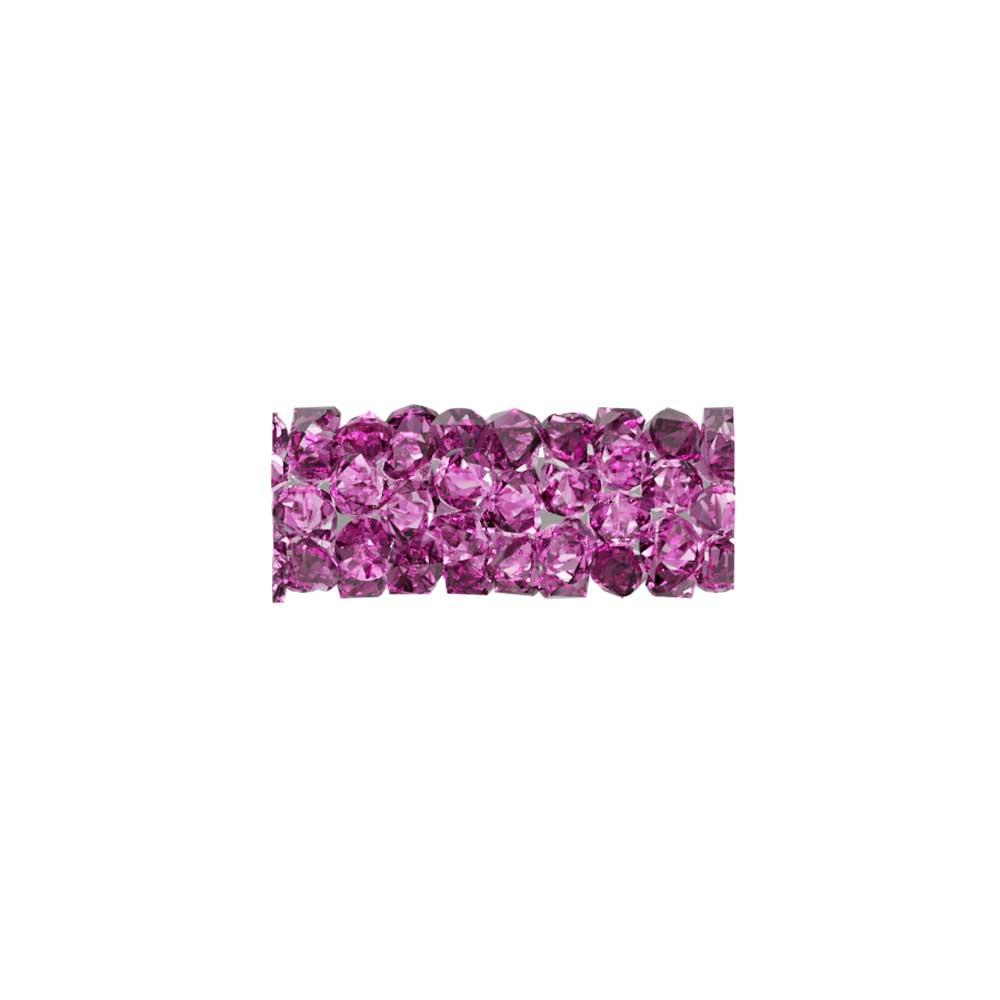 Swarovski Crystal, #5951 Fine Rocks Tube Bead  15mm, 1 Piece, Fuchsia