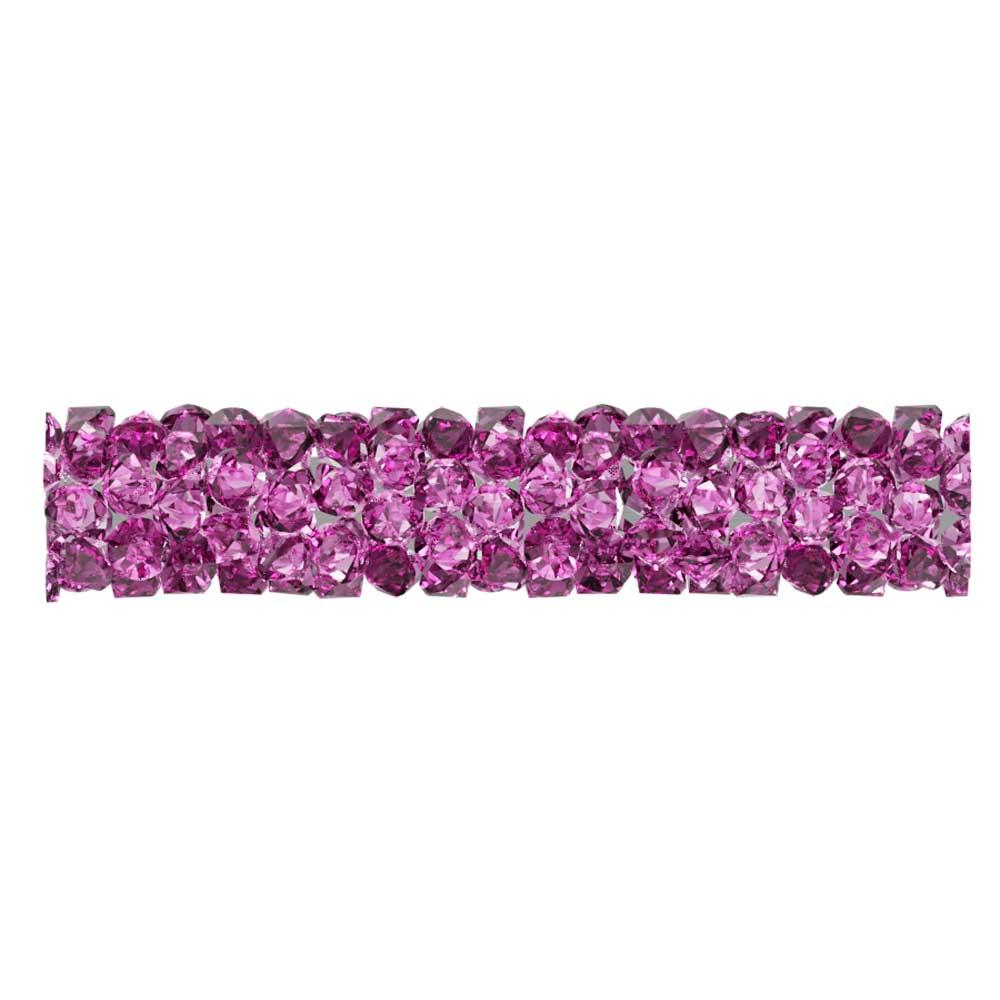 Swarovski Crystal, #5951 Fine Rocks Tube Bead  30mm, 1 Piece, Fuchsia