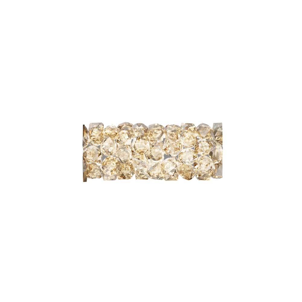 Swarovski Crystal, #5951 Fine Rocks Tube Bead  15mm, 1 Piece, Crystal Golden Shadow