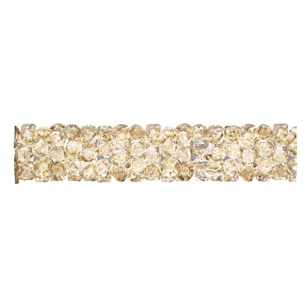 Swarovski Crystal, #5951 Fine Rocks Tube Bead  30mm, 1 Piece, Crystal Golden Shadow