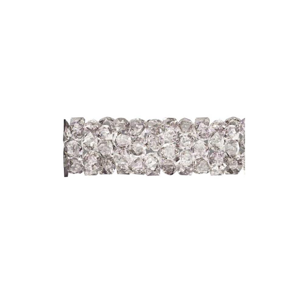 Swarovski Crystal, #5951 Fine Rocks Tube Bead  15mm, 1 Piece, Crystal Moonlight