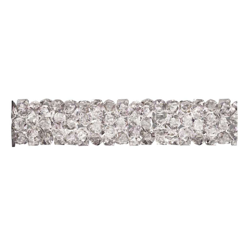 Swarovski Crystal, #5951 Fine Rocks Tube Bead  30mm, 1 Piece, Crystal Moonlight